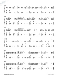 Love While Walking-Numbered-Musical-Notation-Preview-3