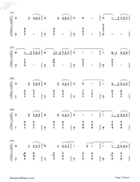 Come Across-Hidden Man Promotion Song-Numbered-Musical-Notation-Preview-2