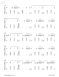 Come Across-Hidden Man Promotion Song-Numbered-Musical-Notation-Preview-3