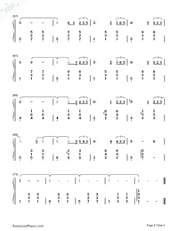 Come Across-Hidden Man Promotion Song-Numbered-Musical-Notation-Preview-4