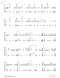 Say Amen Saturday Night-Panic at the Disco-Numbered-Musical-Notation-Preview-2