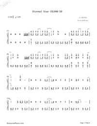 Eternal Star-ISLAND ED Numbered Musical Notation Preview 1