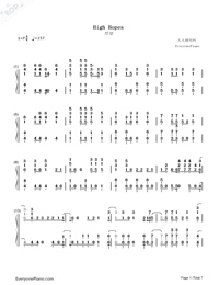 High Hopes-Panic at the Disco-Numbered-Musical-Notation-Preview-1