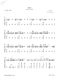 Pray-Angels of Death ED-Numbered-Musical-Notation-Preview-1