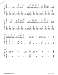 Pray-Angels of Death ED-Numbered-Musical-Notation-Preview-2