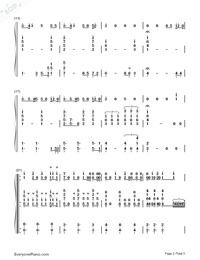 Girls Like You-C Major-Voice+Piano Numbered Musical Notation Preview 2