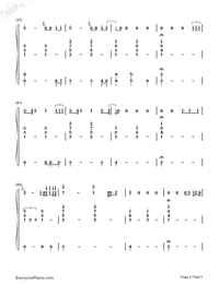 Girls Like You-C Major-Voice+Piano Numbered Musical Notation Preview 4