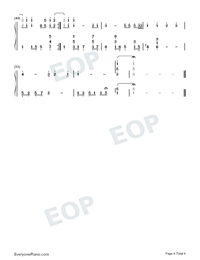 She is Afar-Jacky Cheung Numbered Musical Notation Preview 4
