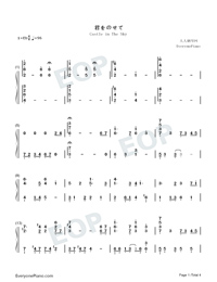 Castle in the Sky-Perfect Version-Numbered-Musical-Notation-Preview-1