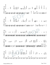 Castle in the Sky-Perfect Version-Numbered-Musical-Notation-Preview-3