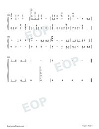 Castle in the Sky-Perfect Version-Numbered-Musical-Notation-Preview-4