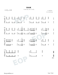 Counting the Toads-Numbered-Musical-Notation-Preview-1