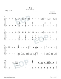 Painted Heart-Perfect Version-Numbered-Musical-Notation-Preview-1