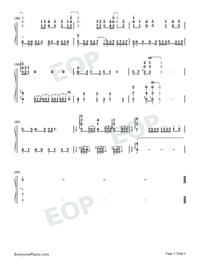 CheerS-はたらく細胞ED両手略譜プレビュー3
