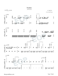 Exodus-Maksim Mrvica-Numbered-Musical-Notation-Preview-1