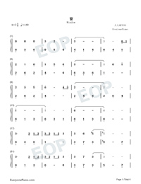 Window-Legend of Fuyao Theme-Numbered-Musical-Notation-Preview-1