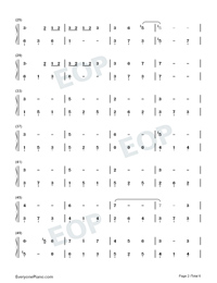 Window-Legend of Fuyao Theme-Numbered-Musical-Notation-Preview-2
