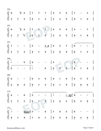 Window-Legend of Fuyao Theme-Numbered-Musical-Notation-Preview-3