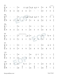 Window-Legend of Fuyao Theme-Numbered-Musical-Notation-Preview-4