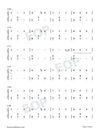 Window-Legend of Fuyao Theme-Numbered-Musical-Notation-Preview-5