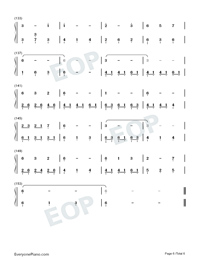 Window-Legend of Fuyao Theme-Numbered-Musical-Notation-Preview-6
