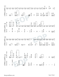 A Million Dreams-Perfect Version-Numbered-Musical-Notation-Preview-3