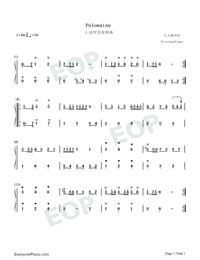 ポロネーズ-バッハ両手略譜プレビュー1