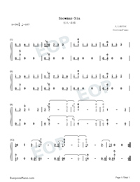 Snowman-Sia-Numbered-Musical-Notation-Preview-1