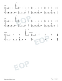 Uh Huh-Julia Michaels-Numbered-Musical-Notation-Preview-5