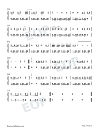 Wait-Maroon 5-Numbered-Musical-Notation-Preview-3