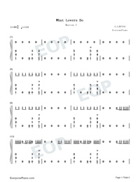 What Lovers Do-Maroon 5 ft SZA-Numbered-Musical-Notation-Preview-1