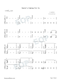 Santa's Coming For Us-Sia and Greg Kurstin-Numbered-Musical-Notation-Preview-1