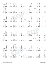 Santa's Coming For Us-Sia and Greg Kurstin-Numbered-Musical-Notation-Preview-8