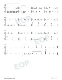 雪落下的聲音-延禧攻略片尾曲雙手簡譜預覽3