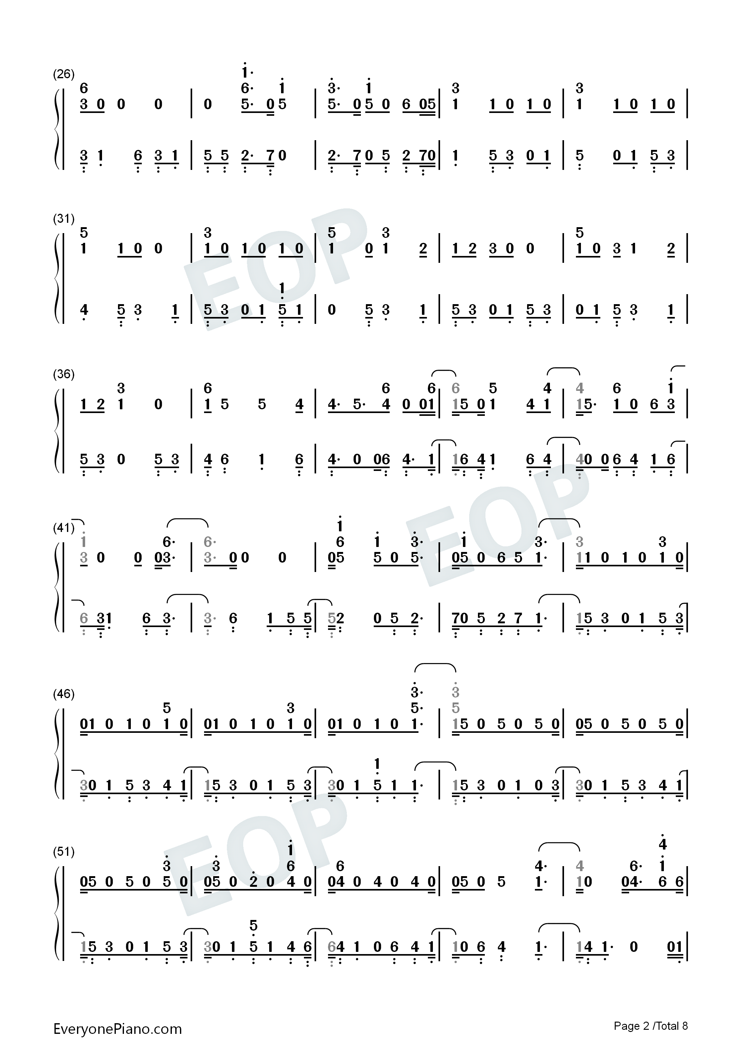 Next to Me-Imagine Dragons Numbered Musical Notation Preview 2