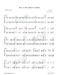 Next to Me-Imagine Dragons-Numbered-Musical-Notation-Preview-1