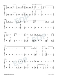 Next to Me-Imagine Dragons Numbered Musical Notation Preview 6