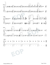Next to Me-Imagine Dragons Numbered Musical Notation Preview 8