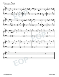 Euphoria-BTS Free Piano Sheet Music & Piano Chords