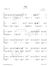 Unsullied-Ashes of Love Theme-Numbered-Musical-Notation-Preview-1