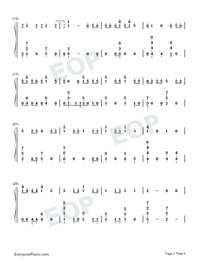 Échame La Culpa-Luis Fonsi and Demi Lovato-Numbered-Musical-Notation-Preview-2