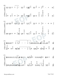 Échame La Culpa-Luis Fonsi and Demi Lovato-Numbered-Musical-Notation-Preview-3