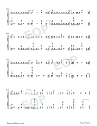 Échame La Culpa-Luis Fonsi and Demi Lovato-Numbered-Musical-Notation-Preview-4