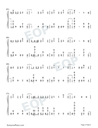 Échame La Culpa-Luis Fonsi and Demi Lovato-Numbered-Musical-Notation-Preview-5