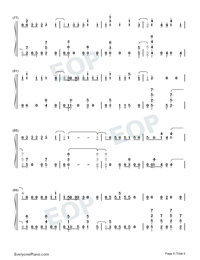 Échame La Culpa-Luis Fonsi and Demi Lovato-Numbered-Musical-Notation-Preview-6