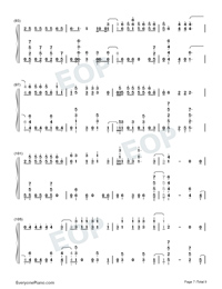 Échame La Culpa-Luis Fonsi and Demi Lovato-Numbered-Musical-Notation-Preview-7