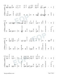 Échame La Culpa-Luis Fonsi and Demi Lovato-Numbered-Musical-Notation-Preview-8