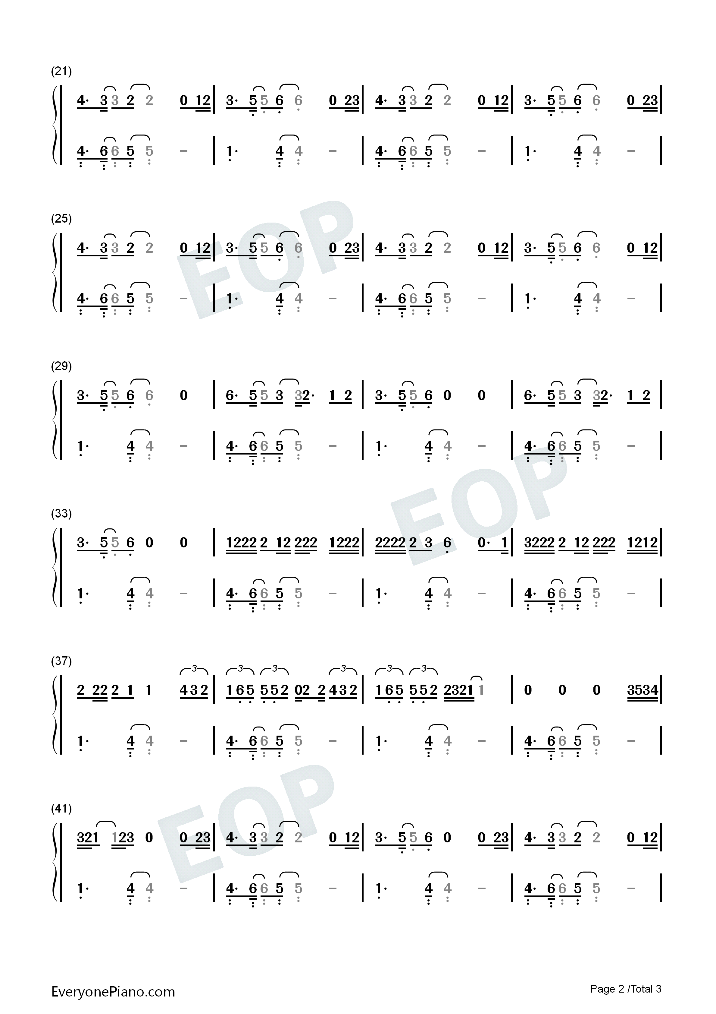 Happy Now-Zedd and Elley Duhé Numbered Musical Notation Preview 2
