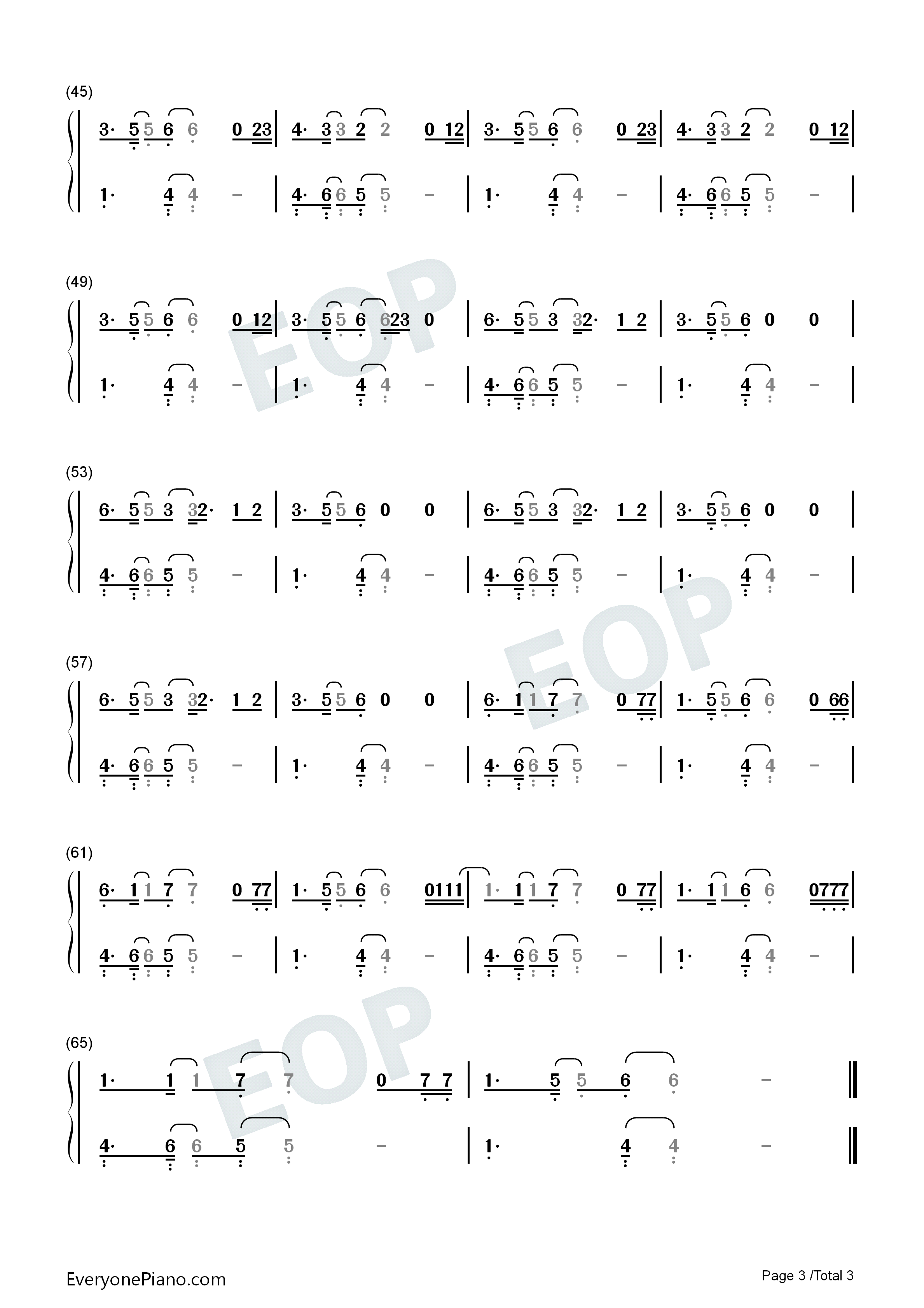 Happy Now-Zedd and Elley Duhé Numbered Musical Notation Preview 3