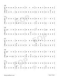 I Would Die for You-Miley Cyrus-Numbered-Musical-Notation-Preview-2
